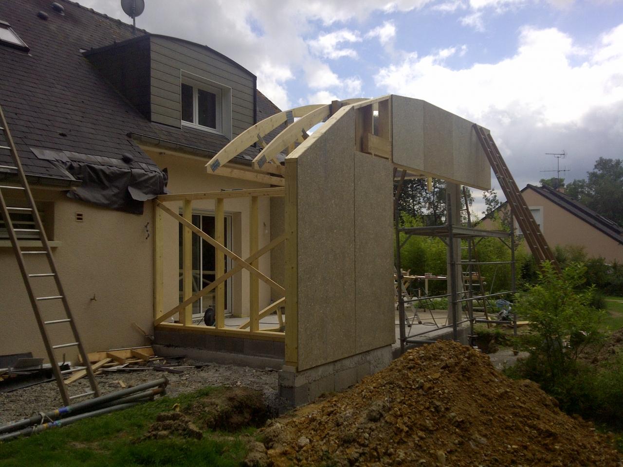extension ossature bois extension ossature bois l 39 huisserie 53. Black Bedroom Furniture Sets. Home Design Ideas
